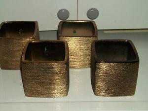 4 vases décoratif carré chocolat Saguenay Saguenay-Lac-Saint-Jean image 1