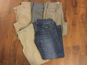 Men's size 32 and 34 pants for sale