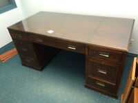 Antique solid wood desk, originally paid $1200, asking 450 OBO