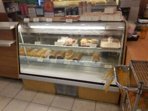 Curved Glass Refrigerated Pastry Display