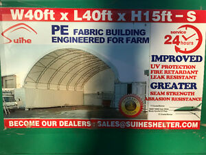 Heavy Duty 40x40 Double Truss Seacan Container Shelter