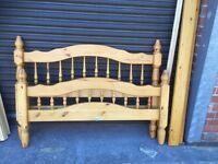 Solid Pine Double Bed, Can Deliver