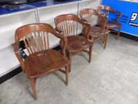 4 x heavy wooden arm chairs. Perfect DIY London Ontario Preview