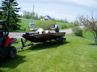 17 ft Bass boat