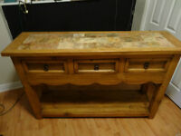 """A """"CASA LUNA"""" MEXICAN STYLE SERVING TABLE"""