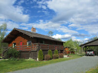 Log Home on Acreage by Owner
