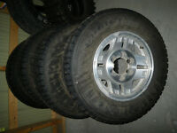 Aluminium Toyota 6 bolt rims with Nordic tires