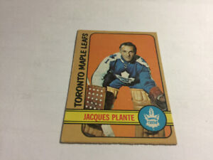 1972-73 O-Pee-Chee JACQUES PLANTE #92 Maple LEAFS