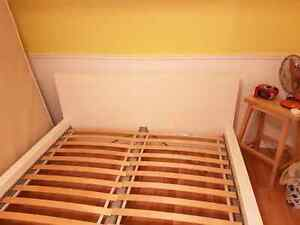 Ikea Malm Queen size bed frame with slats low version