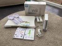 Nintendo Wii games console and games with Wii Fit board