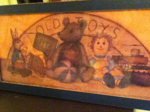 Old Toys - Folk Style Framed Picture
