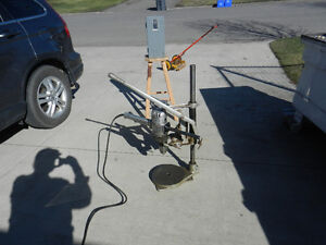 Portable Drill Press Stand C/W 3/4 HP Moter Prince George British Columbia image 1