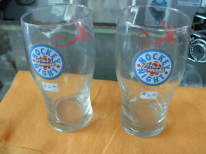 Hockey Night in Canada beer glasses