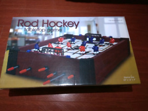 Rod hockey tabletop game
