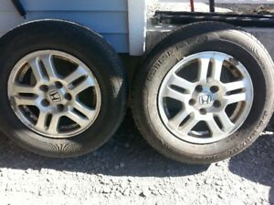 Honda mags with tires