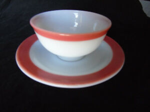 Pyrex Tea Cup/Saucer Pink Flamingo Vintage Peterborough Peterborough Area image 4
