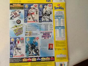 1999 Shreddies / Gretzky Hockey card box Sarnia Sarnia Area image 2