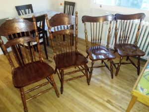 Set of 4 Hardwood Chairs for Sale. (Made in Malaysia)