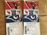 NFL tickets Cardinals v Rams 22/10, £75 for pair