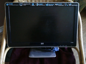 """HP 2010i   widescreen 20""""HD ready LCD monitor , speakers"""