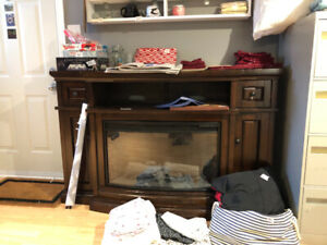 Electric fire place $200