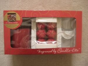 Candle-Lite Orange Cranberry Set / Holiday Candle Sets