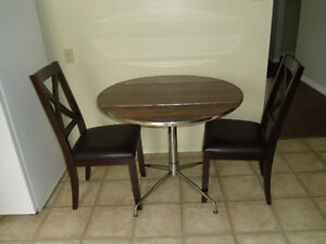 Table and two chairs for small spaces