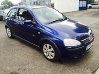 2005 VAUXHALL CORSA 1.2 i 16v SXi Manual 3DR Hatchback BLUE + PX TO CLEAR