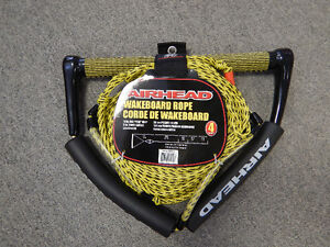 Airhead AHWR-1 Wakeboard Rope with Phat Grip, Yellow