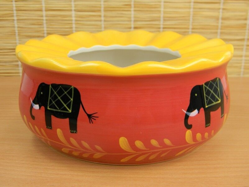 Stövchen Teewärmer BENARES Cha Cult passend für Teekanne Keramik handbemalt