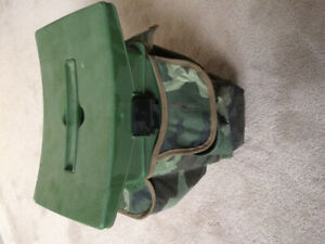 Hunting/fishing/camping stool with storage