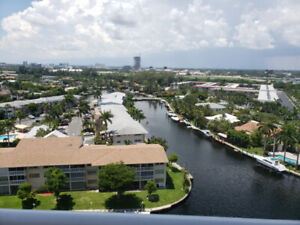For SALE water views in this Hallandale beach condo in Florida