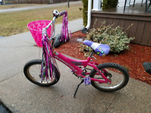 "Girls 16"" Bike with NEW Training Wheels"