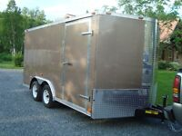 New 8 x 14 Flat Top plus V nose Cargo trailer