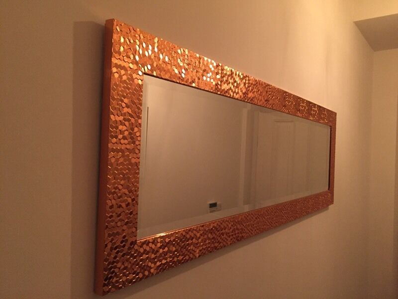 Mirror Copper Effect Hall Tall Long In Newtownabbey
