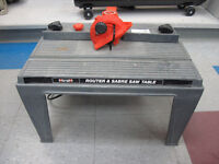 Black & Decker Router w/Table
