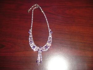 Beautiful Purple Stone Necklace