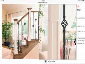 Wrought iron balusters, matte black