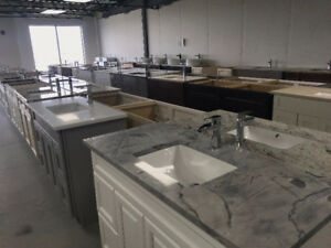 Wood Vanities On Sale With Granite Countertops @ QuebecKitchens
