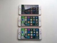 iPhone 6s rose gold x 3