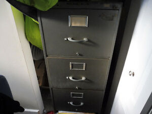 filing cabinet and desk