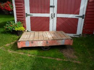 **RARE** ANTIQUE INDUSTRIAL/FARMHOUSE FACTORY CART