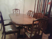 WOOD DINING SET FOR SALE!! MUST GO!