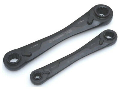Crescent 2 pc. Chrome Metric Ratcheting Wrench Set-Mfg# CX6D