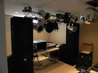 Complete professional sound and lighting system.