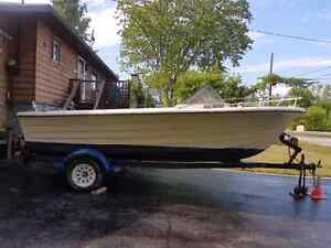 18.5 ft boat and trailer