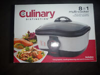Culinary Distinction 8 in 1 Multi-Cooker - Brand New In Box