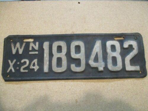 A 1924 Washington Licence Plate / Original