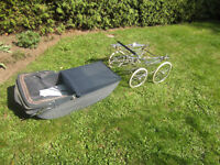 Classic French/English Pram Dark Blue