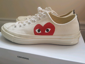 CDG Converse Size 9 Worn once VNDS